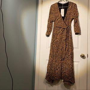 Zara leopard print dress (new with tags)